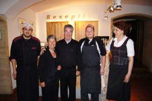 Hoher Besuch im Hotel-Restaurant Zollner